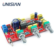 UNISIAN LM1036 OP AMP HIFI Preamplifier tone board  With treble bass volume adjustment EQ Control Preamp for home power Amplifer