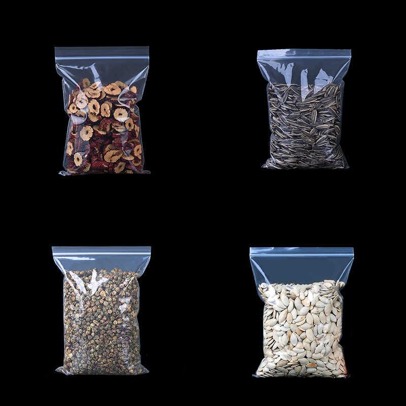 سميكة واضح البريدي قفل أكياس بسحاب قفل الغذاء حزمة حقيبة التخزين سستة البلاستيك مجوهرات صغيرة Reclosable أكياس محكمة سمك 0.12 مللي متر