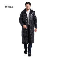 2020 New Jacket Men Winter Long Cotton -50°Jacket Parka Men Coat Detachable Hooded Men'S Winter Coat Thicken Plus Size S-4XL authentic nike men s kobe blazer sport knit breathable jacket hooded coat grey green
