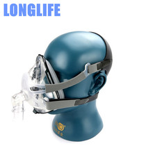 Longlife F1A Full Face Mask For CPAP Auto CPAP APAP Ventilator Respirator Anti Snoring Sleep Apnea CPAP Mask W/ Headgear Clips