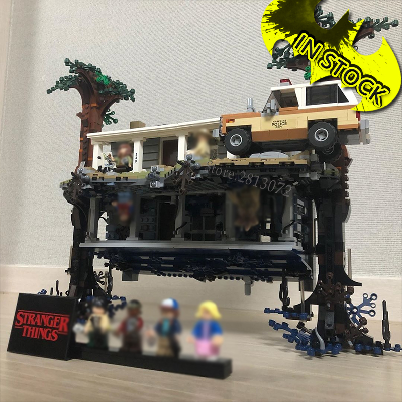 75810 Stranger Things 25010 The Upside Down In Stock 2499Pcs Building Blocks Bricks Toys Compatible With 75810 Baby Toy