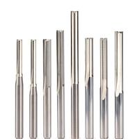 1pc 3.175mm 4mm 5mm 6mm 8mm 10mm 2 플루트 스트레이트 라우터 비트 나무 cnc 스트레이트 조각 커터 초경 엔드 밀 도구
