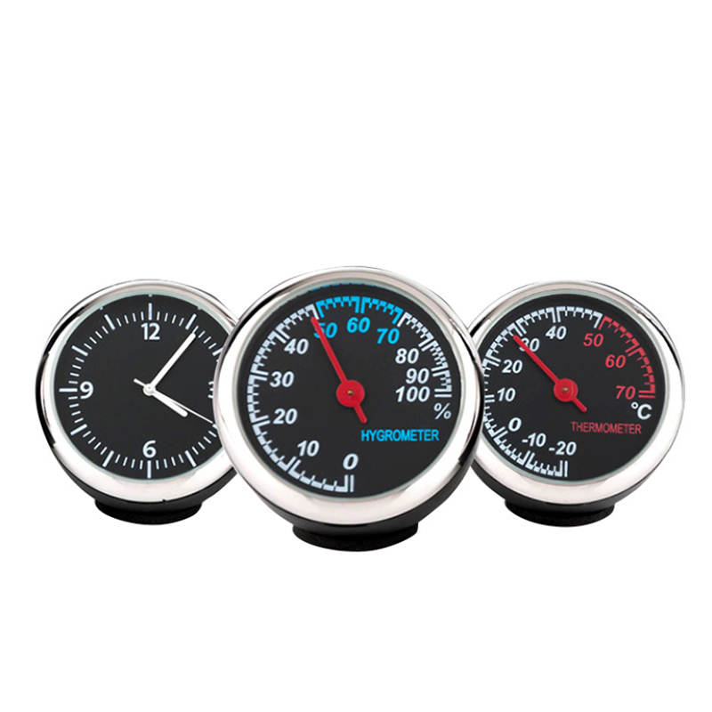 Image 5 - Clock Hygrometer Thermometer Car Accessories Interior Dashboard Car Decorations Ornaments Pendant Quartz Watches-in Ornaments from Automobiles & Motorcycles