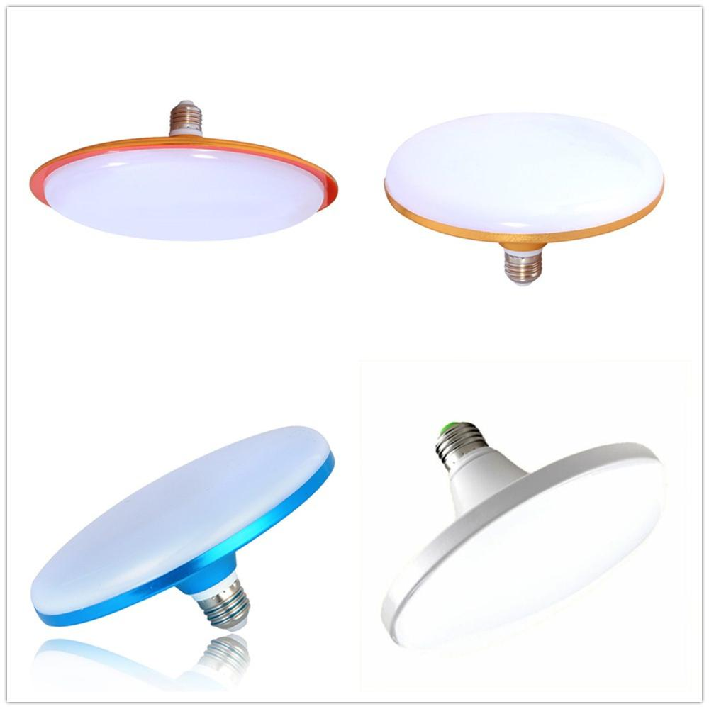 4 Colors Shell 15W 24W 36W 50W 60W 70W Energy Saving Flat Light Bulb E27 UFO LED Lamp For Home Lighting