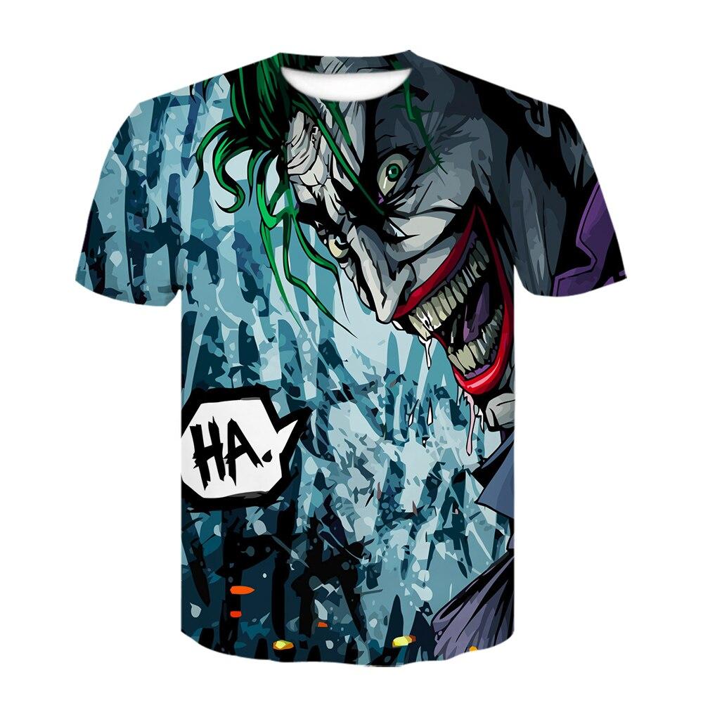 Harajuku 3D джокер футболка модная летняя футболка мужская женская Повседневная аниме отряд самоубийц покер супергерой 3D полный принт топы футболки - Цвет: D-731