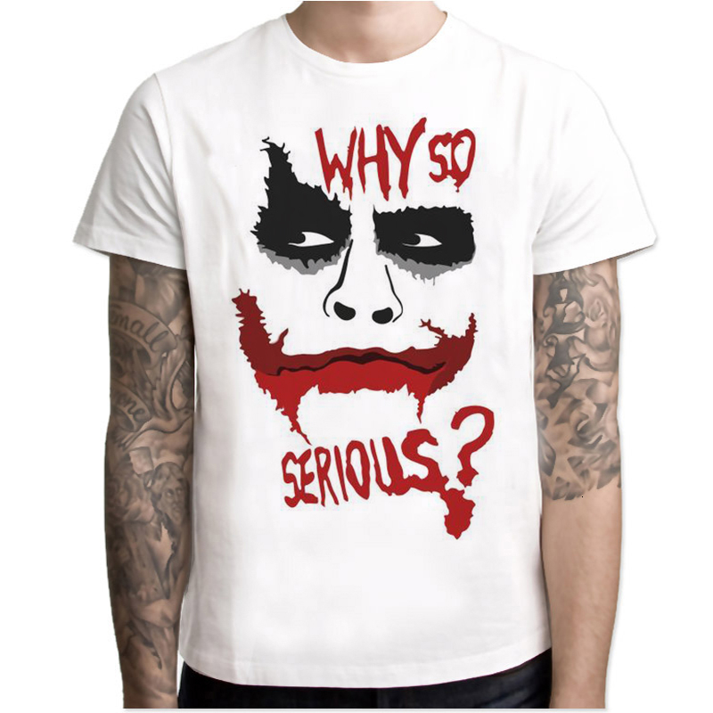 Lus Los Hot Moive joker why so serious T Shirt Men Tshirt Male Romeo Tops Plus Size Streetwear Graphic Tees Hip Hop Funny