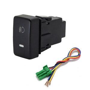 Image 3 - 1PC Recorder Monitor lautsprecher Radar Einparkhilfe Vorne Nebel Licht Scheinwerfer Schalter Taste Für Honda Fit 08 11