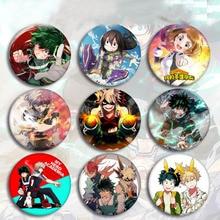 5 pièces Kawaii Anime mon héros académique Cosplay Badge dessin animé Boku pas de héros académique broche broches Izuku Collection sacs Badges jouets