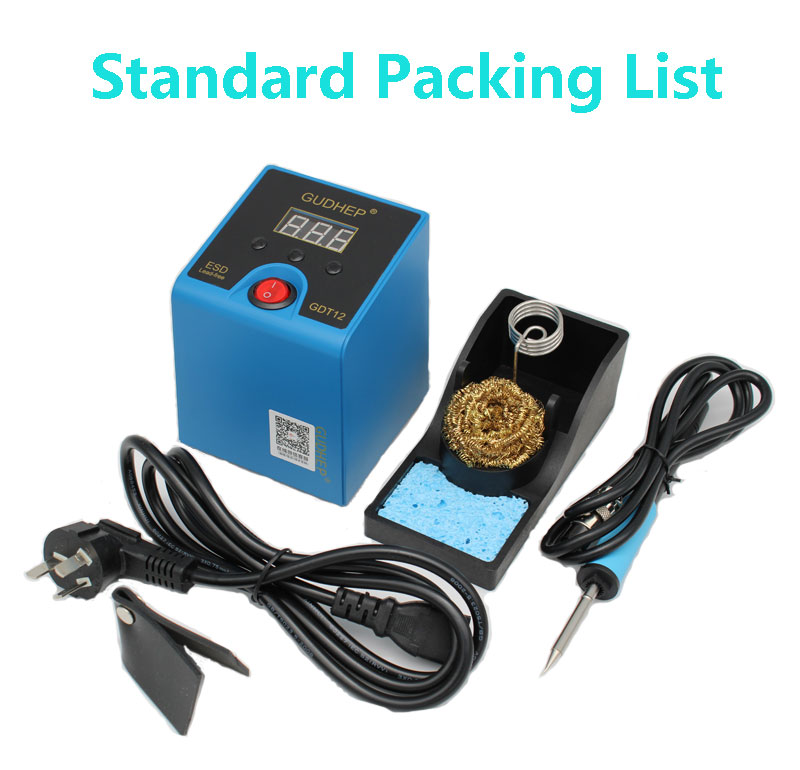 Tools : Gudhep New T12 Soldering Iron Station 120W Thermostatic Soldering Rework Station T12 Soldering Iron Tips