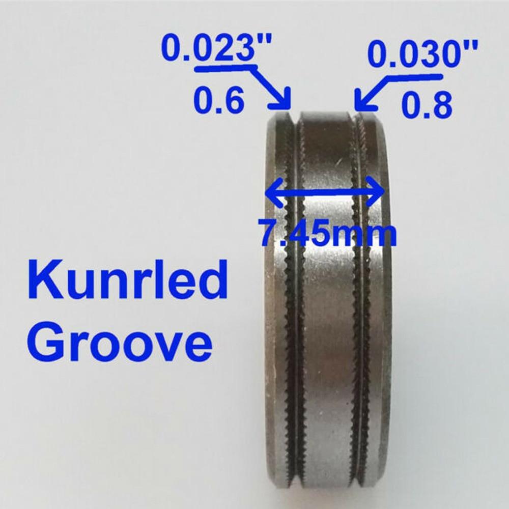 CHNsalescom 0.8-1.0 Kunrled-Groove Mig Welder Wire Feed Drive Roller Roll .030-.040