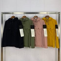 2020 Neue Ankunft Frühling Kompass Logo Aufgesetzte Taschen Männer Jacke High Street Kleidung Mit Kapuze Jacke Mantel