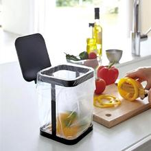 1Pc Mini Home Living Room Table Flip Trash Can Door Garbage Rubbish Bag Holder Kitchen Cabinet Rack Tools