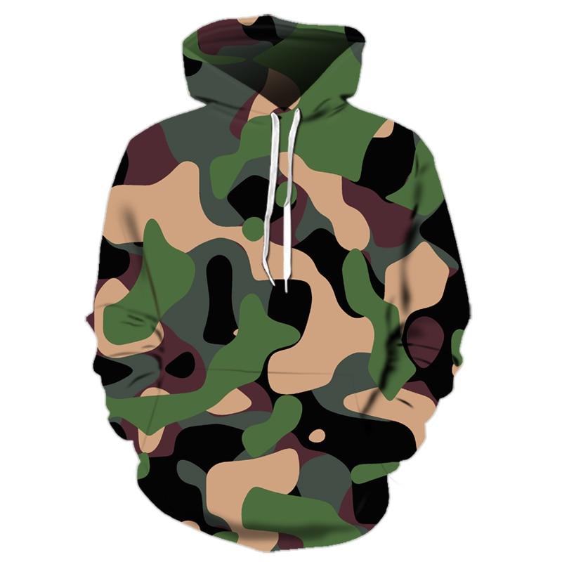 Camouflage 3d Hoodies Men 2019 New Fashion Sweatshirt Male Camo Hoody Hip Autumn Winter Military Hoodie Plus Size 6XL