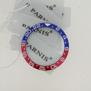 Image 4 - 38 Mm Gốm Ốp Viền Lắp Cho 40 Mm GMT Dây Oiginal Gốm Sứ Màu Đỏ & Đen Viền Lắp Cho Parnis 40mm Tự Động PA2105