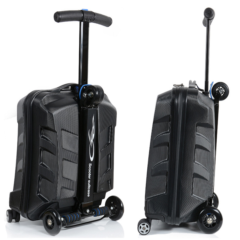 21 inch ADULTS CARRY ON scooter travel suitcase travel backpack luggage on wheels