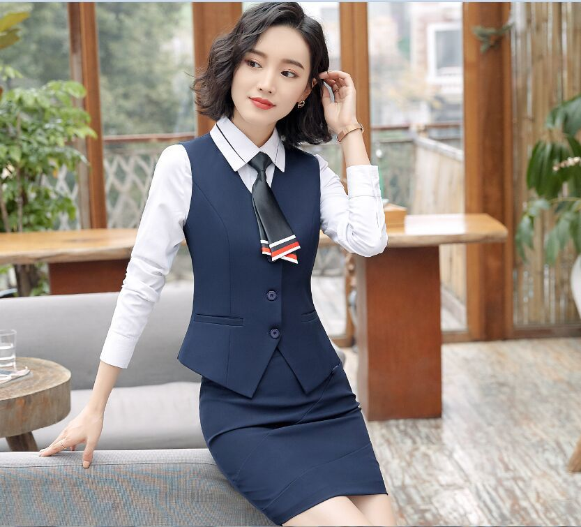 Formal Business elegant Women's Blazer Skirt Suits Long Sleeve Slim With Tops Jackets Skirts Two Pieces Office Work Wear OL Sets