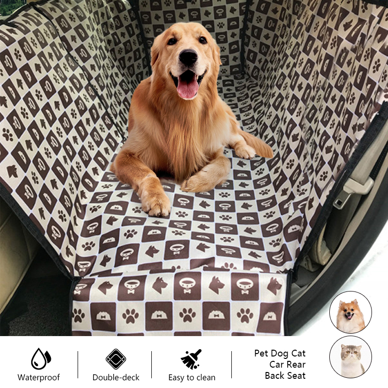 Footprint Design Dog Seat Cover Suitable for Small And Medium-Sized Dogs