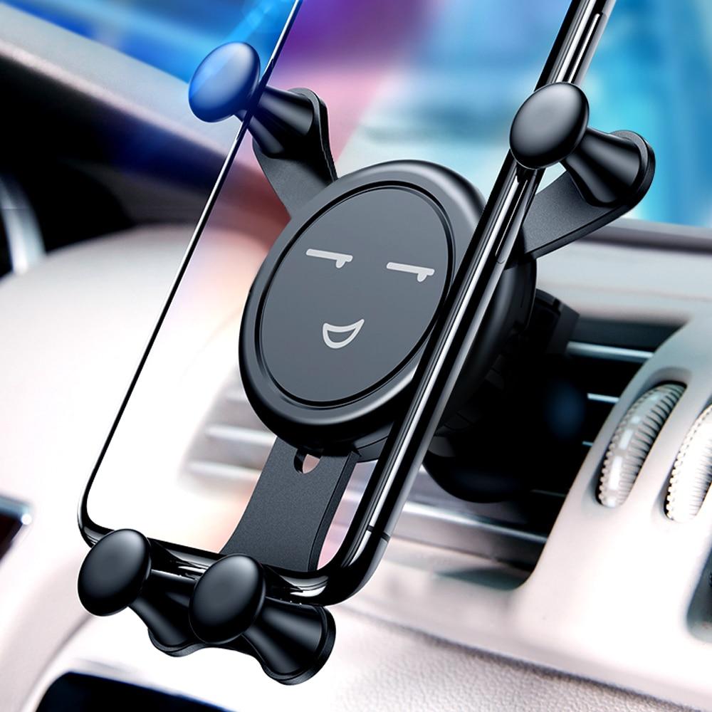 重力自動車電話ホルダー車の換気口なし磁気携帯電話ホルダー gps 用スタンド iphone xs 最大 xiaomi
