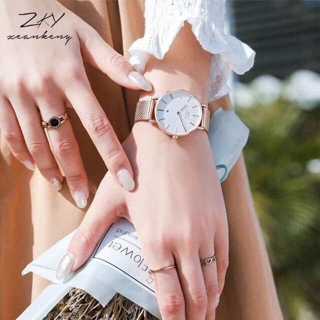 KOVONSH Japan Quartz Movement High Quality Women Stainless Steel Mesh Belt Waterproof Ladies Watch Dropshipping Ladies Gifts