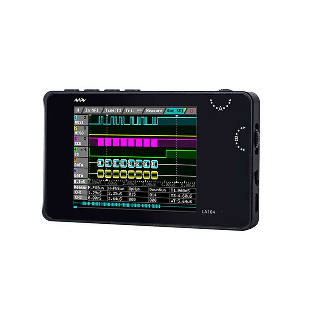 LA104 Portable Digital Logic Analyzer SPI IIC PWM Programmable 100Mhz PC Digital Based Virtual Test 4 Channel Detection