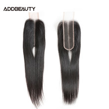 Brazilian Straight 2x6 Middle Part Swiss Lace Closure Addbeauty Top Quality Human Remy Hair Lace Frontal Natural Color for Women