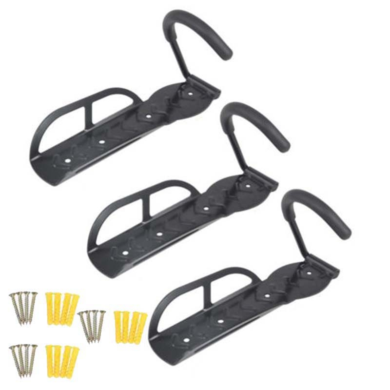 3 Pcs Bike Wall Stand Holder Mount <font><b>Bicycle</b></font> Mountain Bike Storage Wall Mounted Rack Stands <font><b>Bicycle</b></font> <font><b>Steel</b></font> Wall Hanger Hook image