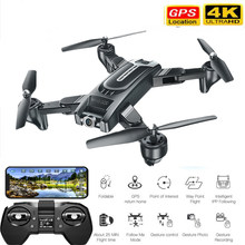 Professionelle Kamera Drone 4K GPS Quadcopter WIFI FPV RC Drone Mit Live-Video Und Rückkehr Hause Faltbare Selfie RC quadrocopter(China)