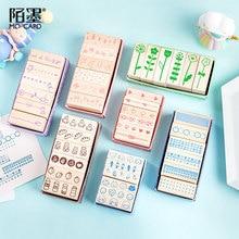 купить 6pcs/set Mini Kingdom Series DIY Crafts Wooden Rubber Stamp for Scrapbooking Stationery Painting Cards Decor по цене 208.1 рублей