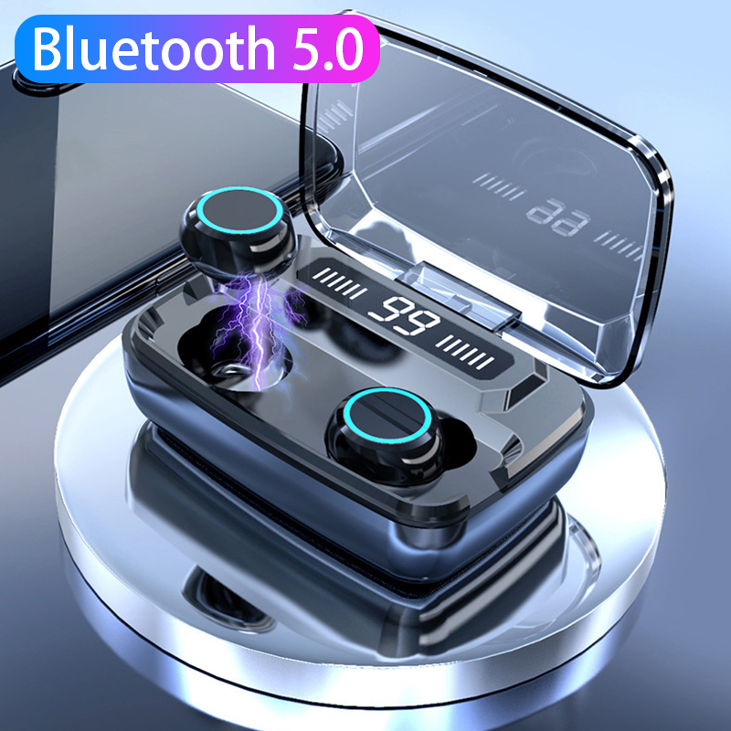 TWS Blutooth <font><b>Earphones</b></font> Wireless Earbuds with Touch Control <font><b>8D</b></font> Sound Stereo Sports Gaming Headset Kulaklik Bank Elair Headphones image