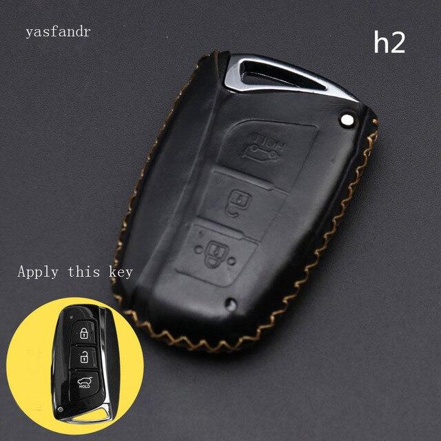 Auto zubehör schlüssel abdeckung fall araba aksesuar Für Hyundai IX45 Santa Fe (DM) 2013 2014 2015 2016 3 tasten Auto Schlüssel Shell