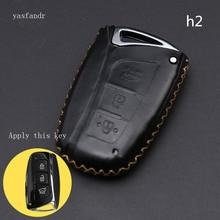 Coche accesorios, llave cubierta caso araba aksesuar para Hyundai IX45 Santa Fe (DM) 2013, 2014, 2015, 2016 3 botones clave Shell
