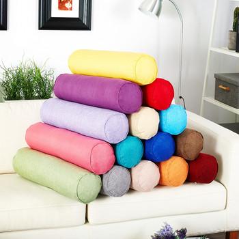 Round Pillow Bed Roll Cushion Cervical Pillow Head Leg Back Support Travel Column Bed Pillows Pillow for Car Home Decoration tanie i dobre opinie vailge CN (pochodzenie) Dekoracyjne BODY Podróży Pościel 300tc Stałe 100 bawełna Poliester bawełna Pamięci Anti-static