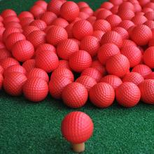 10 PCS  Red Brand New Golf PU Ball Indoor And Outdoor Exercise Sponge White Toy Foam