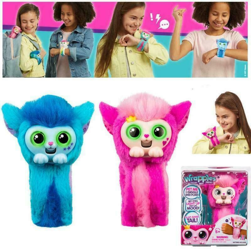 Little Live Pets Wrapples Princeza Skyo Slap Band Toy Electric Animal Live Plush Doll For Kids Toddler Kids Gift