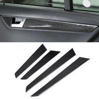 4PCS Interior Door Panel Cover Trim Real Carbon Fiber Fit for Mercedes c class W204 2007 2008 2009 2010 2011 2012 2013