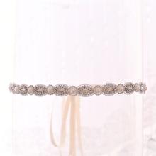 TRiXY S435 Потрясающие Горный Хрусталь Пояса Свадебные Серебряные Алмаз Жемчуг Свадебные Платья
