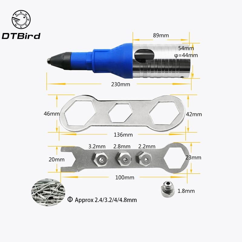 Electric Rivet Nut Gun Riveting Tool Cordless Riveting Drill Adaptor Insert Nut Tool Multifunction Nail Gun Auto Rivet New|Riveter Guns|   - title=