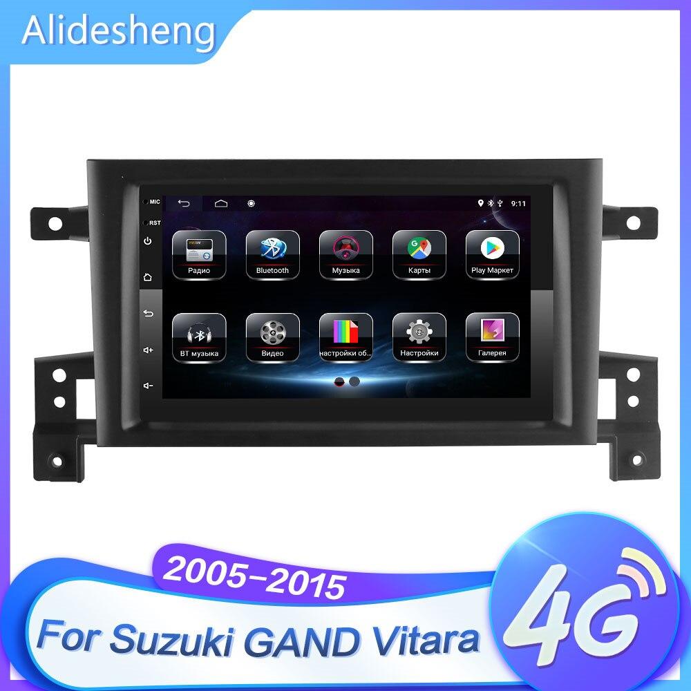 7 inche 4g + 64g wifi bluetooth carro android rádio multimídia para suzuki grand vitara 2005-2015 navegação gps sem dvd