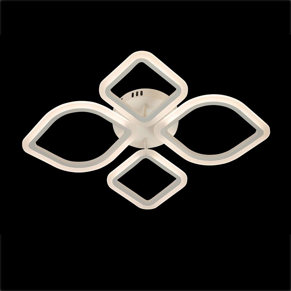 Nowoczesny żyrandol do salonu sypialnia Home Led sufitowa lampa oświetleniowa jadalnia kryty akrylowy pilot żyrandol