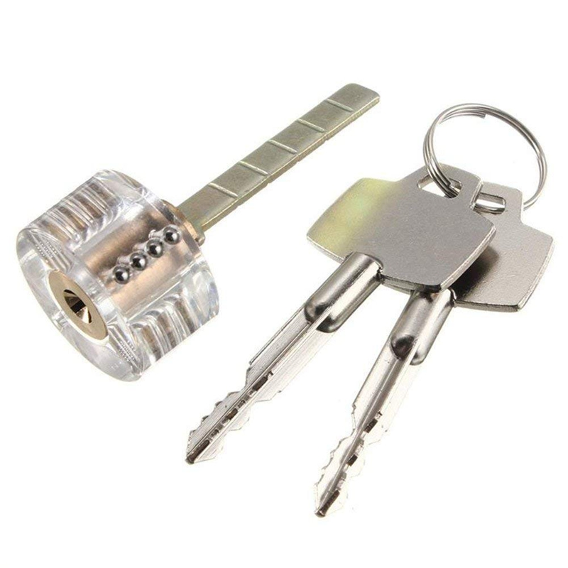 Transparent Cutaway Visable Padlock Locksmith Practice Lock Tool with 2 Keys for Locksmith Beginner