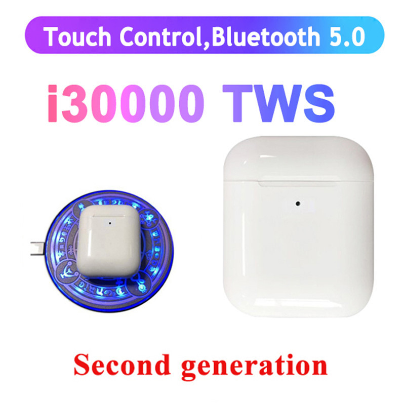 <font><b>i30000</b></font> <font><b>tws</b></font> Wireless Earphone Super Bass support in ear sensor pk i10000 i9000 i50000 <font><b>tws</b></font> <font><b>original</b></font> air 2 image