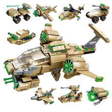 Enlighten Military Educational Building blocks Toy Children Gift Army Aircraft 8IN1 Bricks Car Robot Boat spaceship Legoingly