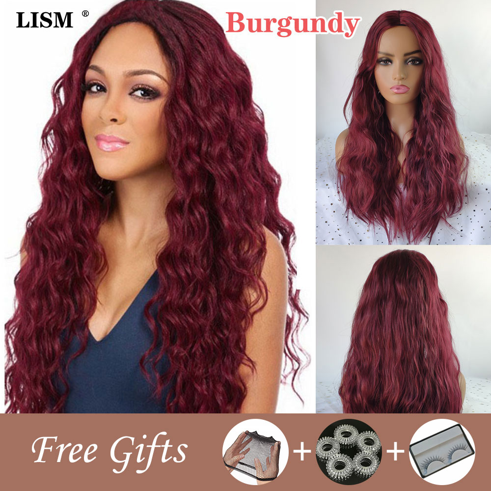 Women Lace Front Wig Synthetic Long Wave Wigs New Fashion Curly Hair Costume Carnival High Quality Temperature Fiber Hairpieces