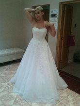 Великолепные трапециевидные Свадебные платья без бретелек с