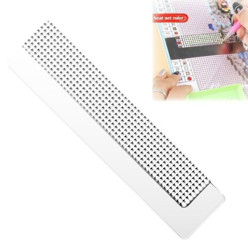 5D Diamond Painting Ruler Stainless Steel Blank Grids Round Full Drill Kit Tools VDX99