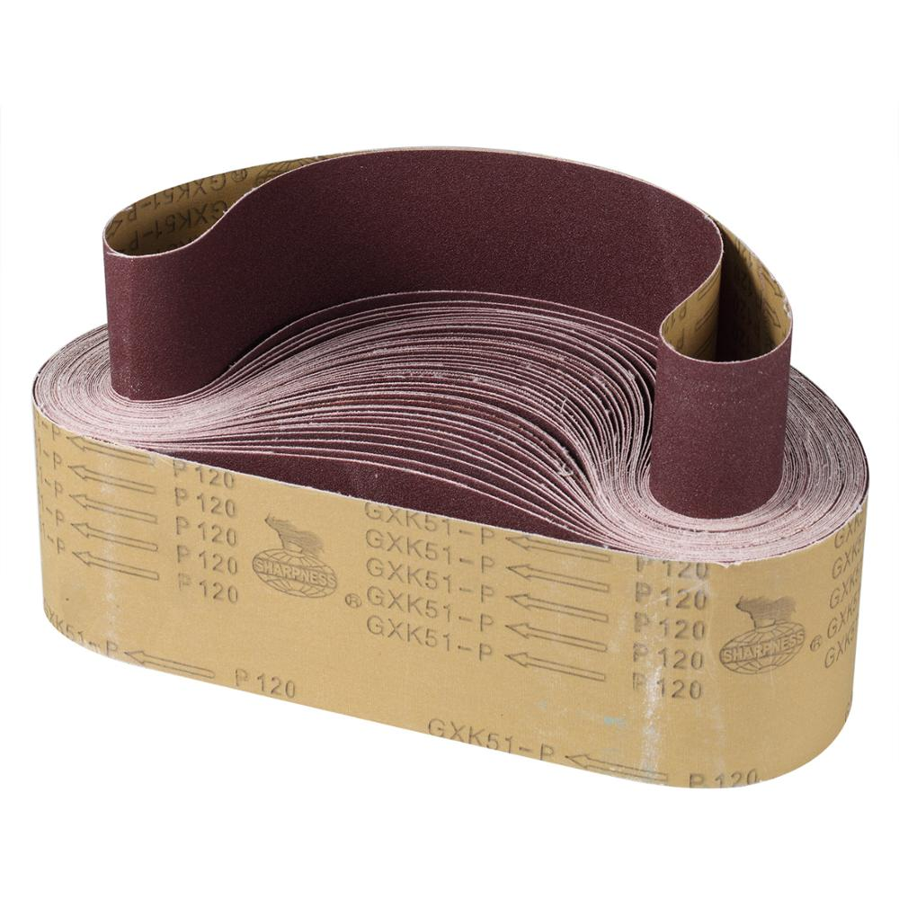10 Pieces 75x533mm Sanding Belts Coarse To Fine Grinding Belt Grinder Accessories For Sander Power Rotary Tools