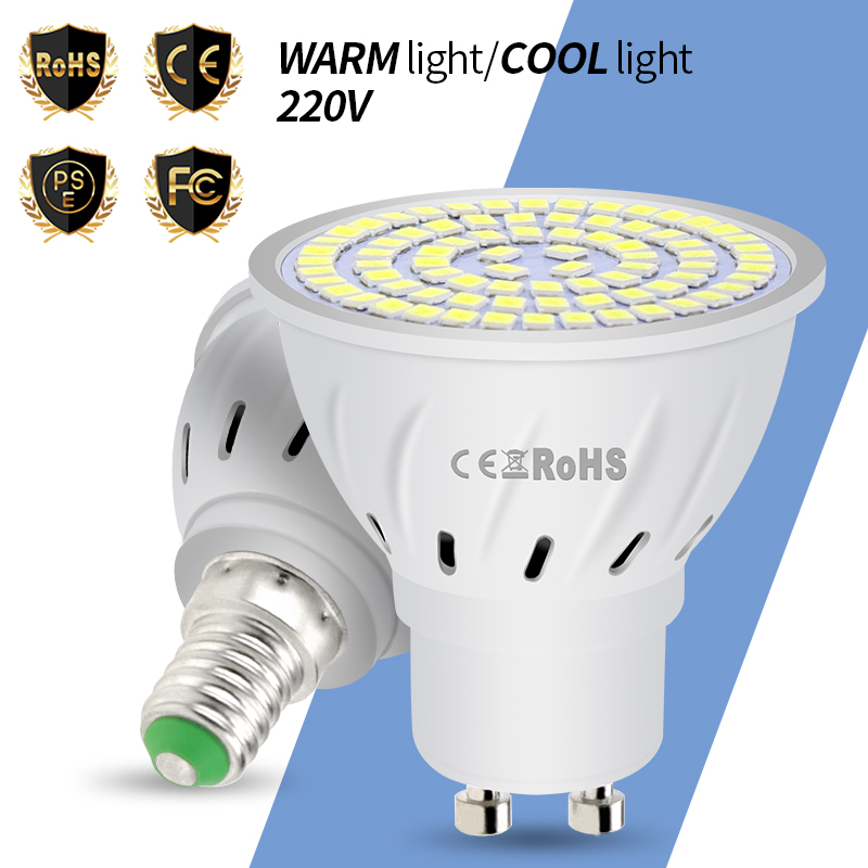 GU10 Led Lamp 220V E27 Led Corn Bulb MR16 Spotlight E14 Candle 48 60 80leds Bombillas B22 Spot Light Bulb 4W 6W 8W Lampada 2835