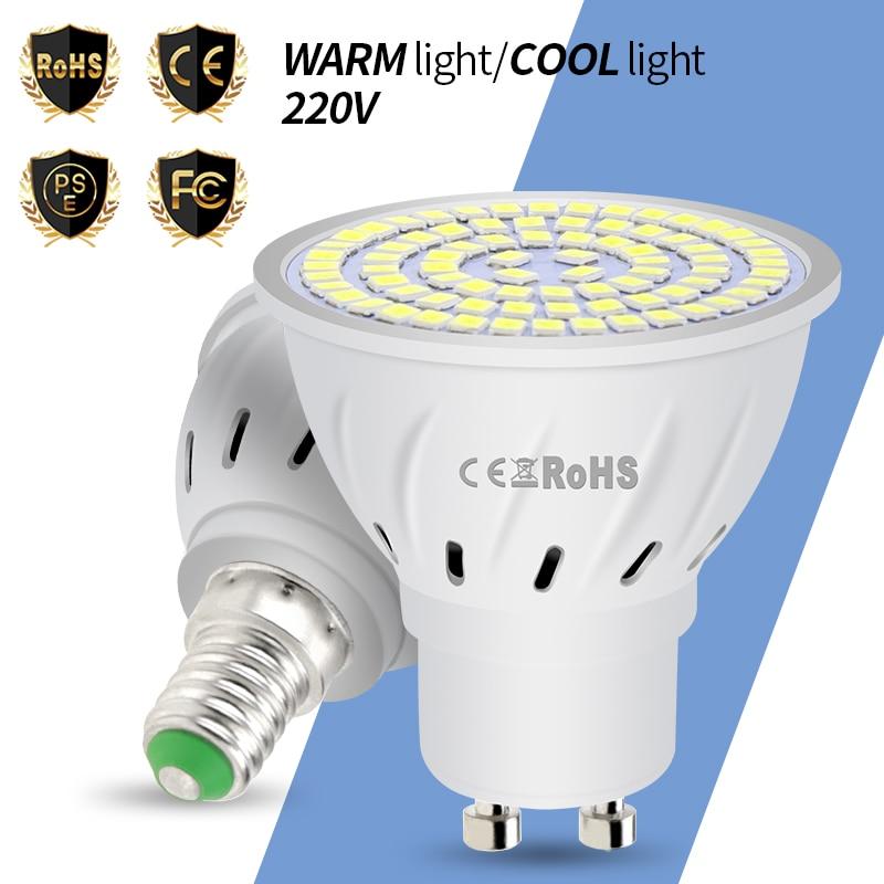 GU10 Led Lamp 220V E27 Led Corn Bulb MR16 Spotlight E14 Candle 48 60 80leds Bombillas B22 Spot Light Bulb 4W 6W 8W Lampada 2835