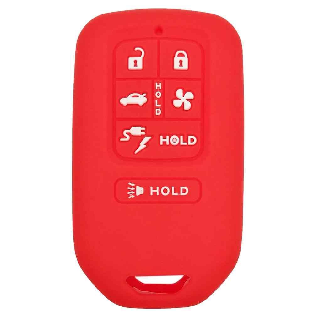 Coolbestda Del Silicone 6 pulsanti Smart Key Fob Caso Della Copertura Della Pelle Protector Keyless Entry A Distanza Accessori per Honda