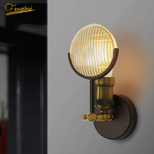 American Retro LED Wall Lamp Deco Wall Lamp Living Room Stair Bedside Cafe Bedroom LOFT Lamp Iron Wall Sconce Light Fixture loft retro industrial wind led fixture american country vintage study office bedroom aisle bronze color wall lamp free shipping